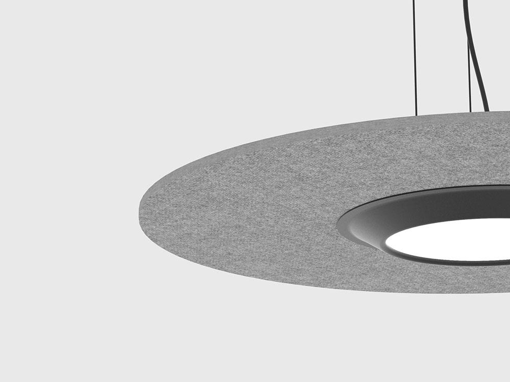 Lamuda: fonoabsorbentey sostenible. Una lámpara de Ximo Roca
