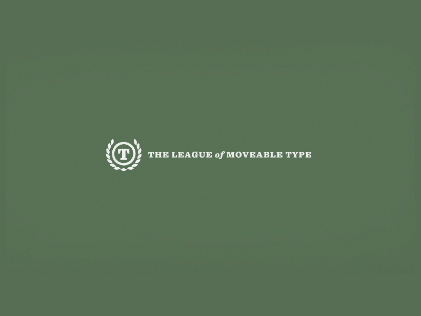The League of Movable Type, la primera fundición tipográfica open-source del mundo