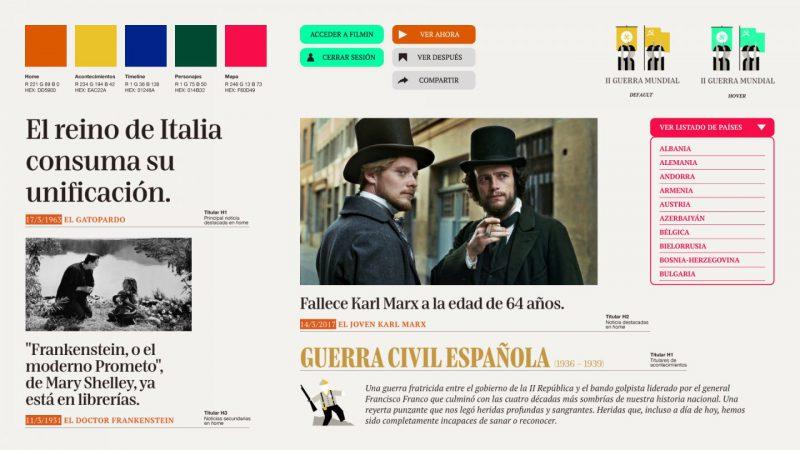 Toormix diseña el nuevo espacio de The Filmin. Web Design en clave periodística