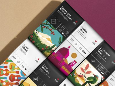 Collins desarrolla la identidad y el packaging del café Archer Farms