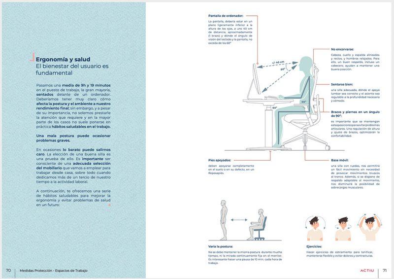 Portada de la guía: Cómo adaptar un espacio de trabajo ante el Covid19