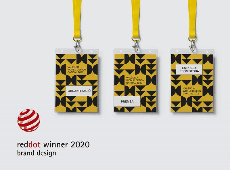 La identidad visual de València Capital Mundial del Diseño en 2022 premiada en los Red Dot Design Awards