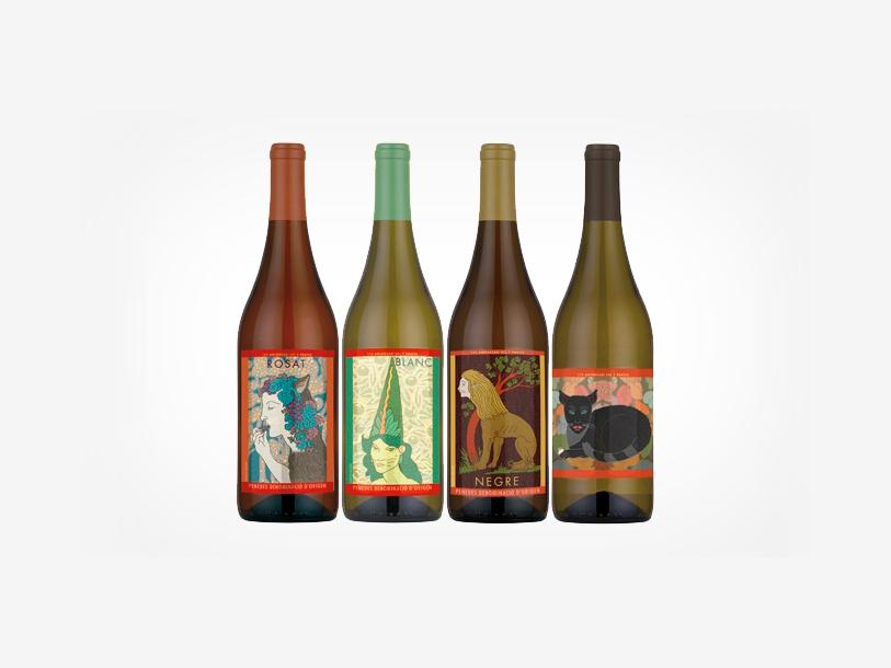 Fuente: miltonglaser.com. The works, wine labels. 7portes.