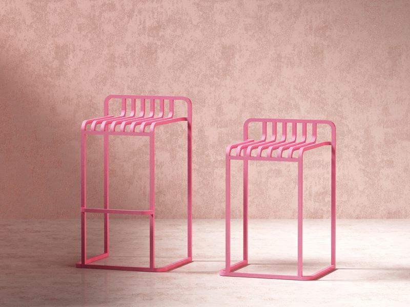 Mut firma la última colección de mobiliario de Diabla. Aluminio, color y minimalismo