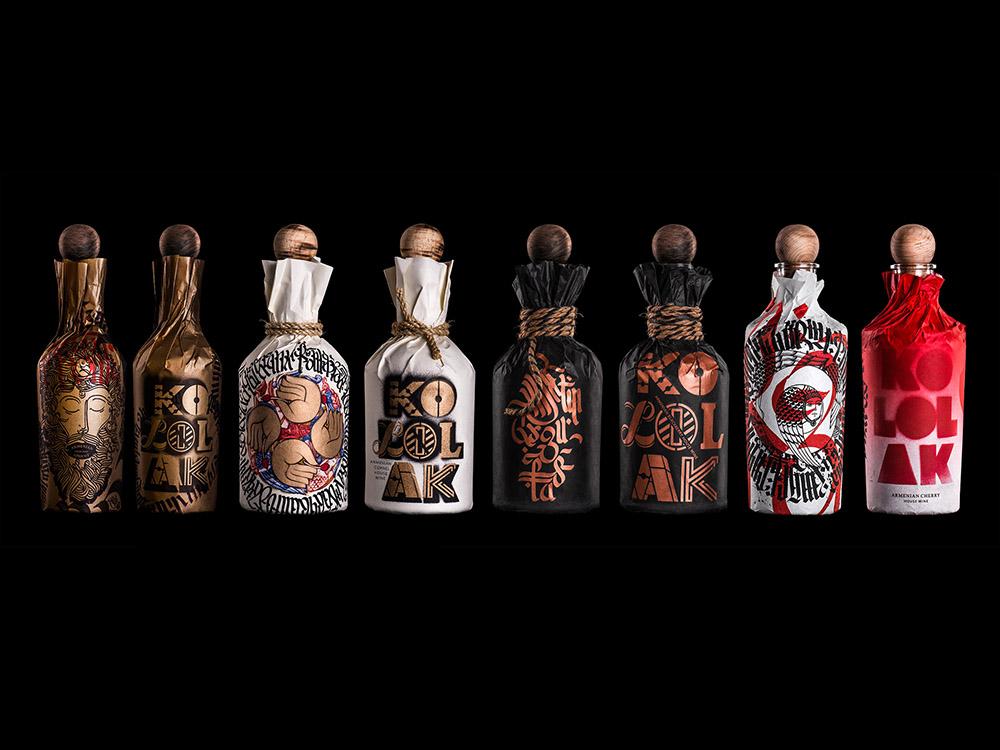 Kololak, packaging para vinos. El sofisticado diseño artesanal de Backbone