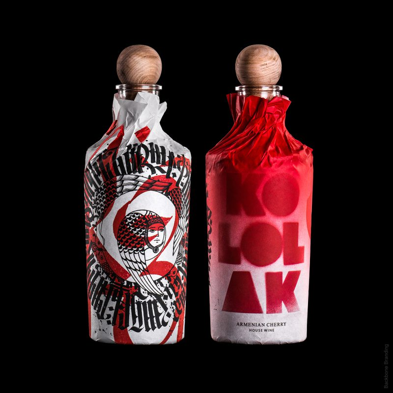 Kololak, packaging artesanal para vinos. El sofisticado diseño artesanal de Backbone