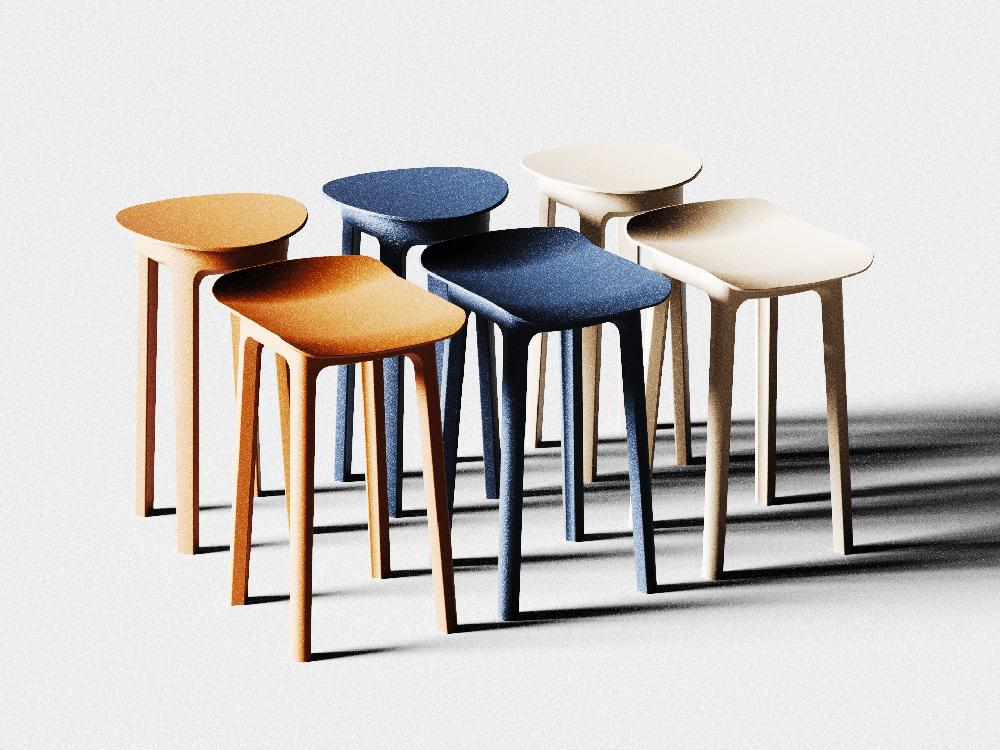 La colección de taburetes de Oliver Perretta inspirada en las sillas Odger de Ikea