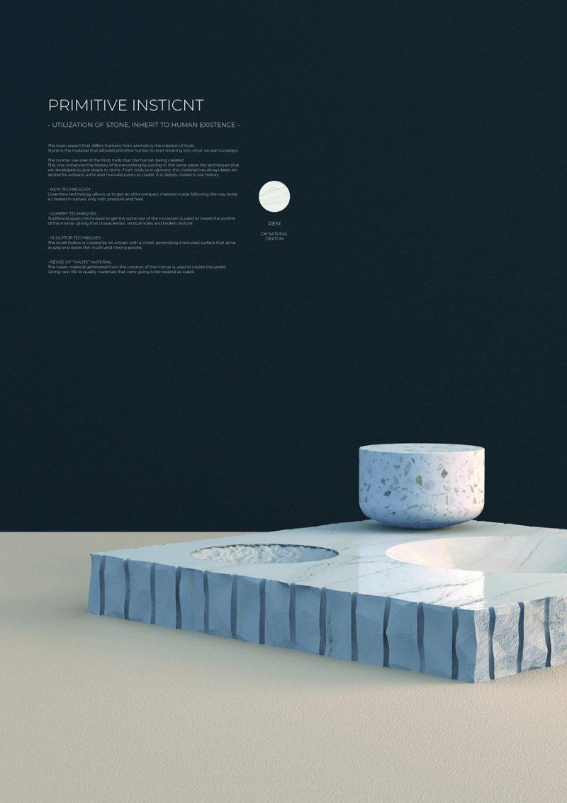 Primitive Instinct de Paula Garnica González (Escuela Superior de Arte y Diseño de Andalucía, ESADA, España)