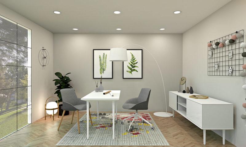 Estancia Minimalista. Home office, cinco espacios para la inspiración. Prepárate para el teletrabajo