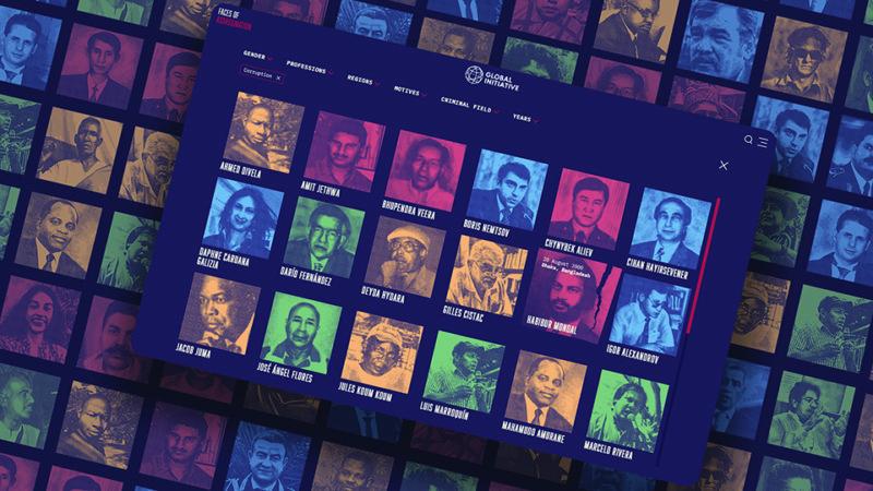 Diseño digital: Faces of Assassination, de Café