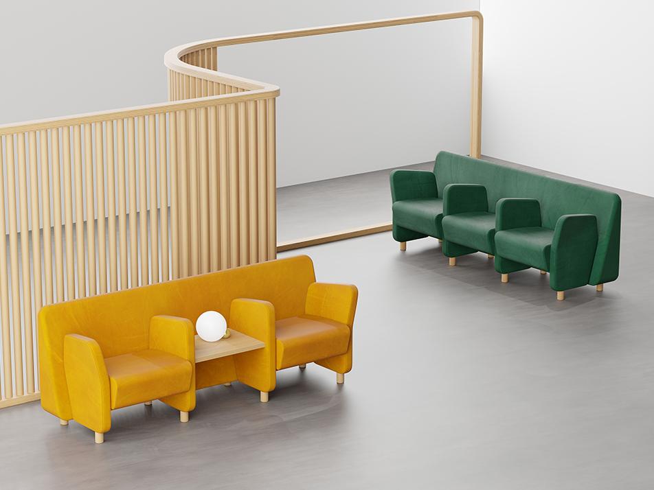 Wiz, el sistema de sofás modulares de Ximo Roca Diseño. Seating versátil y flexible