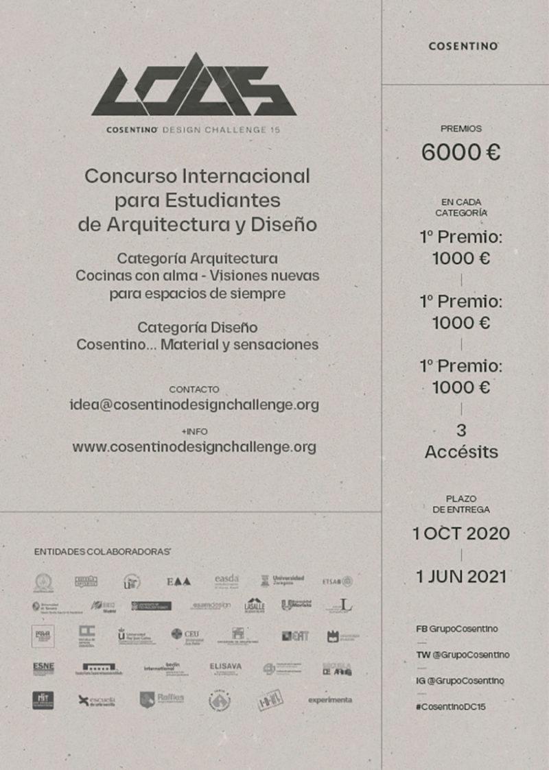 CDC15: el concurso para estudiantes de Arquitectura y Diseño de Cosentino ya está aquí
