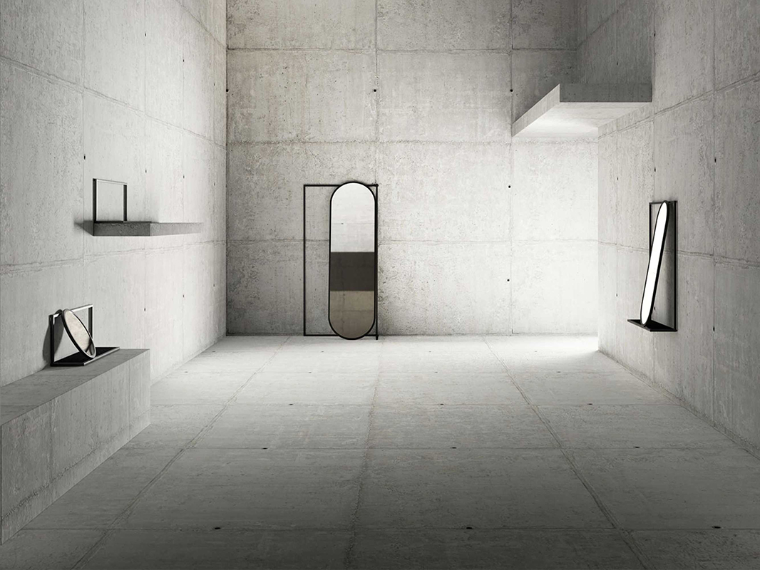 Frame, el sistema de espejos modulares de Nendo. Minimalistas y multiusos