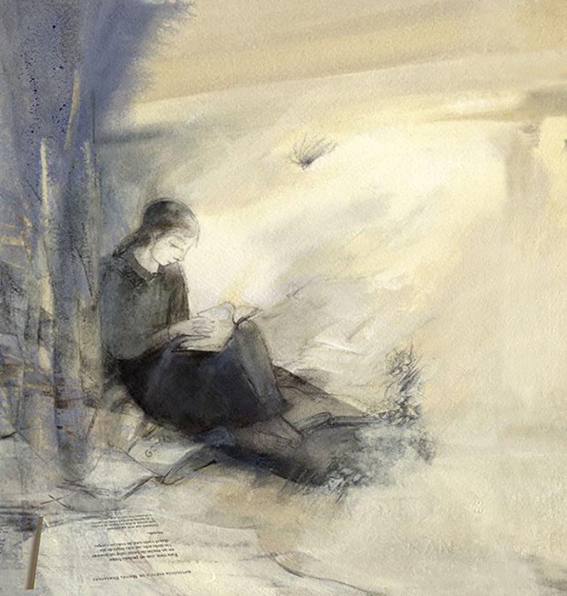Premio Honorífico: Esperanza León (A Miguel Hernández, pintura de Esperanza León)