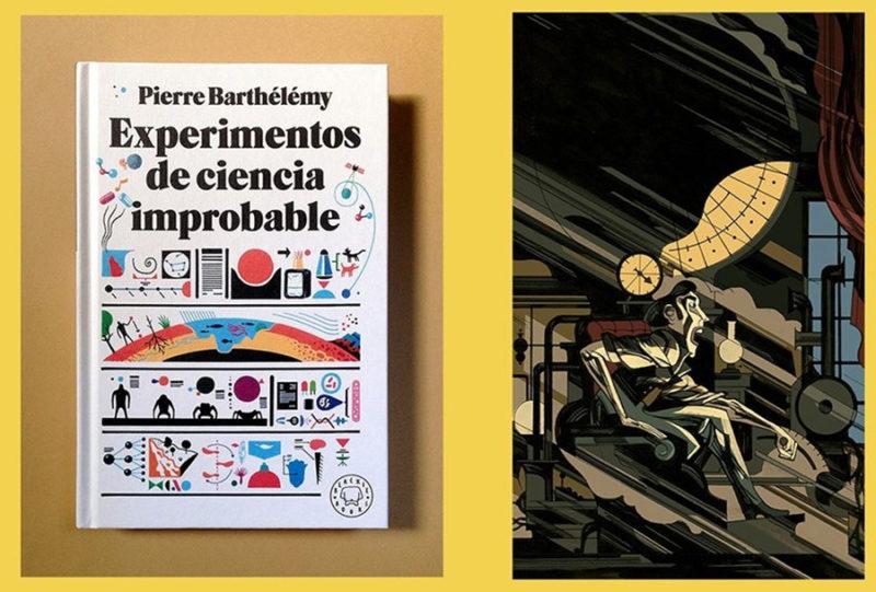 Categoría Portadas (doble): Experimentos de ciencia improbable, de Pepe Medina Manrique; Cuentos Completos de H.G.Wells, de Javier Olivares