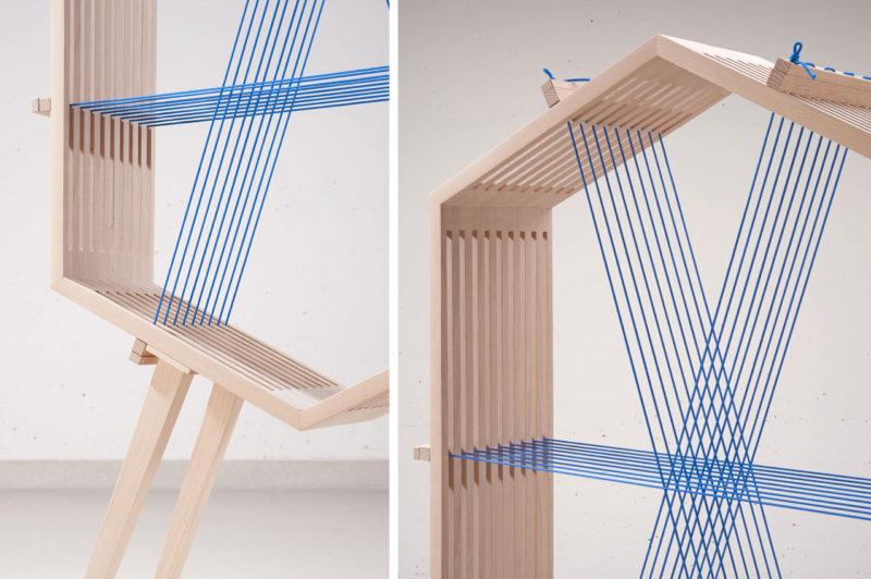 WWW, las versátiles estanterías de nailon de Vitor Matic
