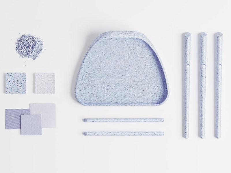 El taburete de plástico reciclado de Pauline Lvova