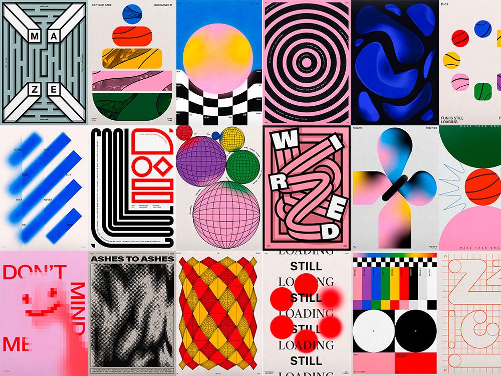 Printmaking Challenge: la serie de posters de Jerry-Lee Bosmans. Diseñar por el placer de hacerlo