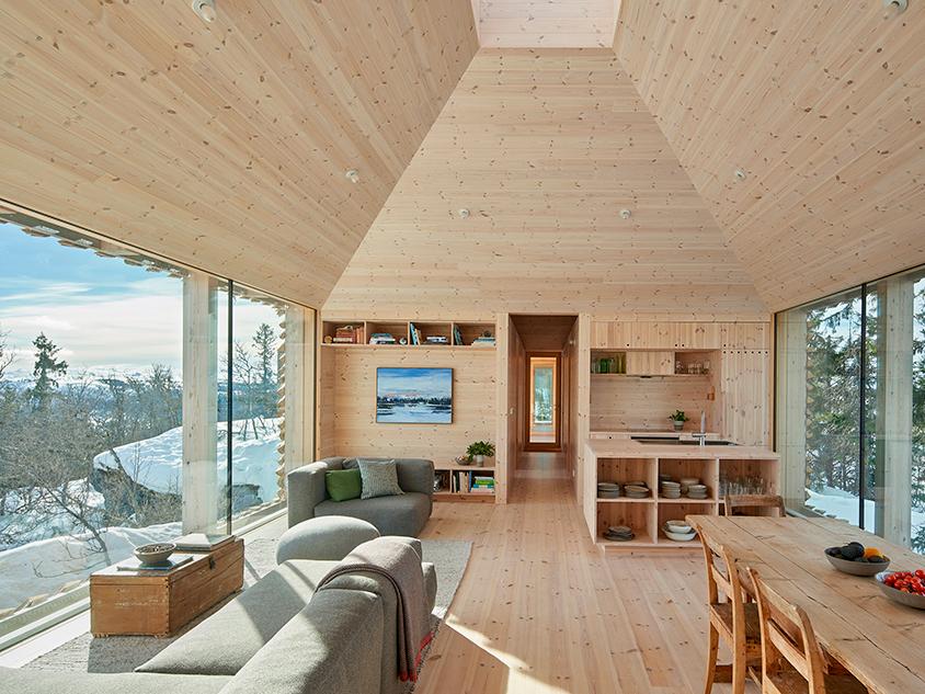 Skigard Hytte: el refugio residencial de Mork-Ulnes en los bosques noruegos de Kvitfjell