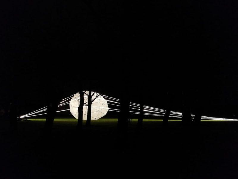 Alumbráramos, arquitectura efímera de Fernando Molina. Instalación en la Ciudadela de Pamplona
