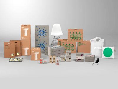 BVD y una solución elegante para el packaging de Vitra. Simple, sencillo y efectivo