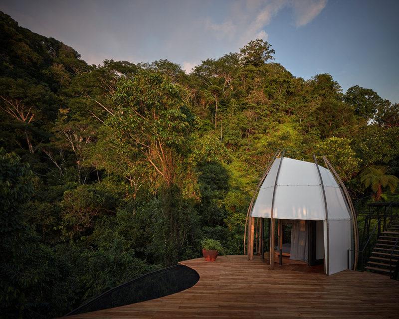 Coco: los búngalos de Archwerk en el corazón selvático de Bahia Ballena