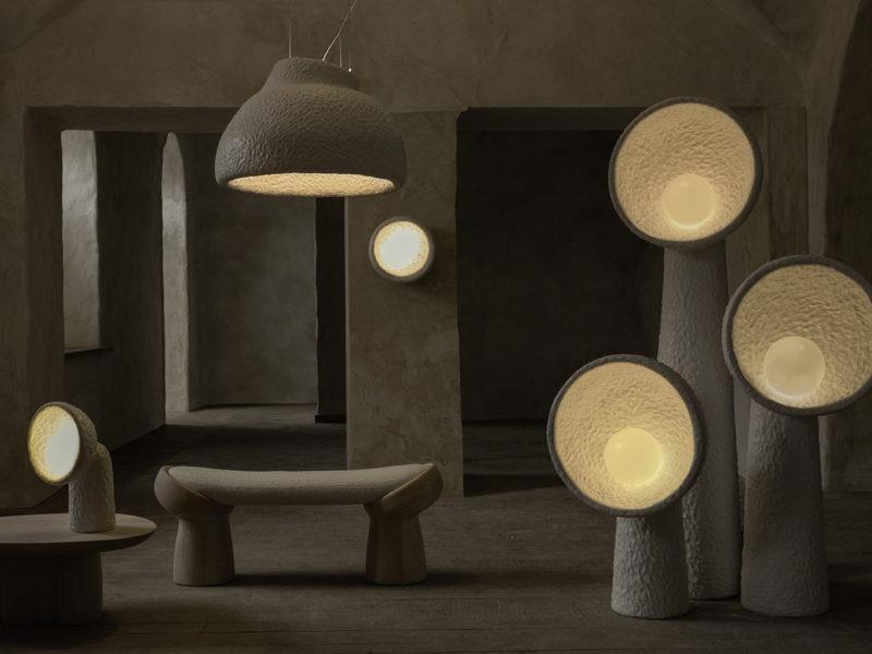 Following the Sun, luminarias y mobiliario de Yakusha Design.  Vova Klever