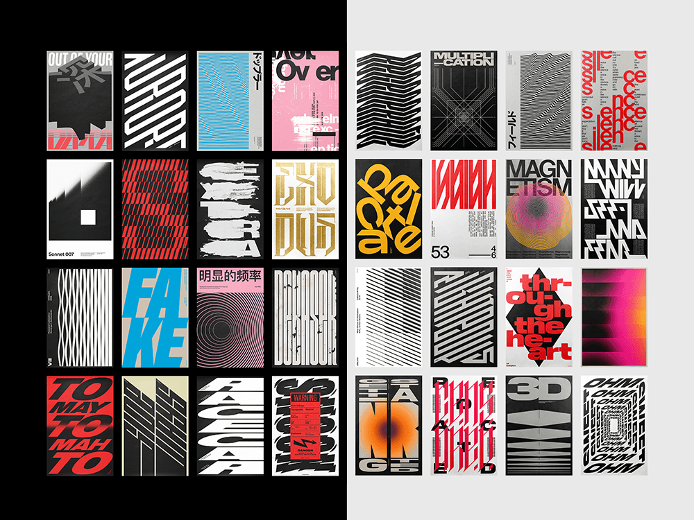 Los posters tipográficos de Xtian Miller. 100% estilo Detroit