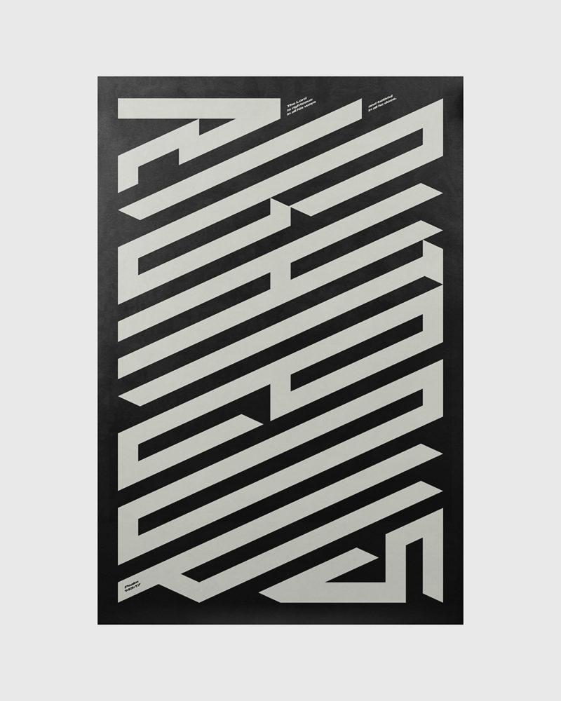 Los poster tipográficos de Xtian Miller. 100% estilo Detroit
