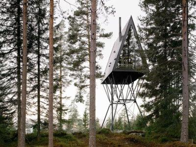 Pan Tretopphytter, las cabañas de Espen Surnevik en los bosques noruegos