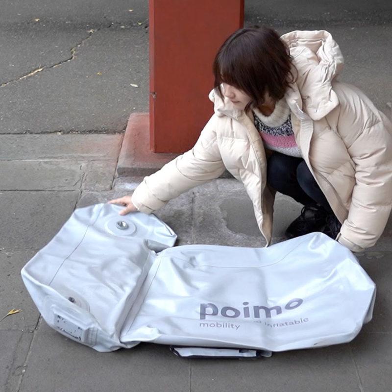 ¿Una scooter eléctrica inflable? Sí, es japonesa y se llama Poimo