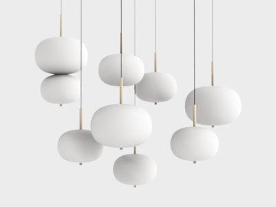 Ilargi, las luminarias de vidrio y madera de Iratzoki Lizaso