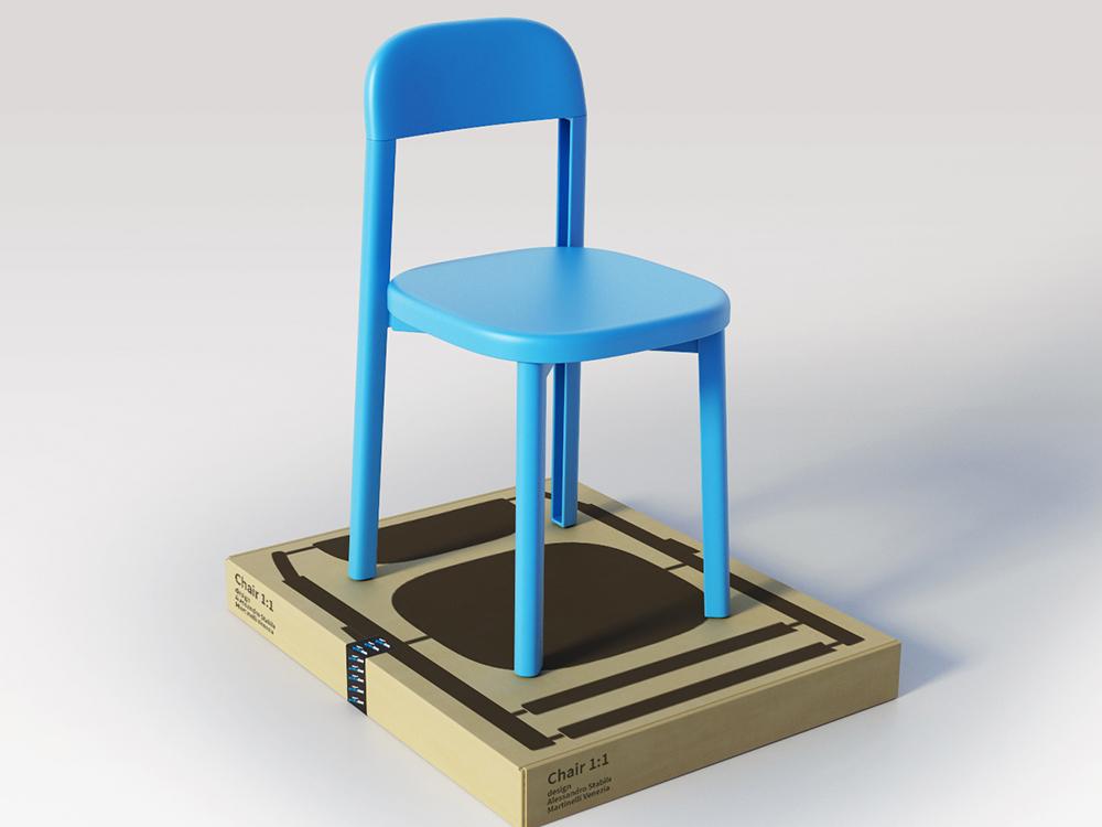 1:1, aquella hermosa silla de plástico. La visión de Stabile, Martinelli y Venezia