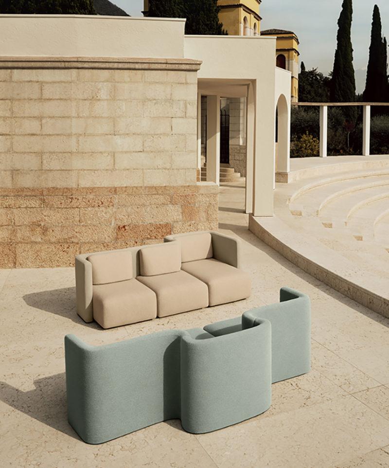 Gala: el sistema de sofás retrofuturista de Cristina Celestino © Mattia Balsamini