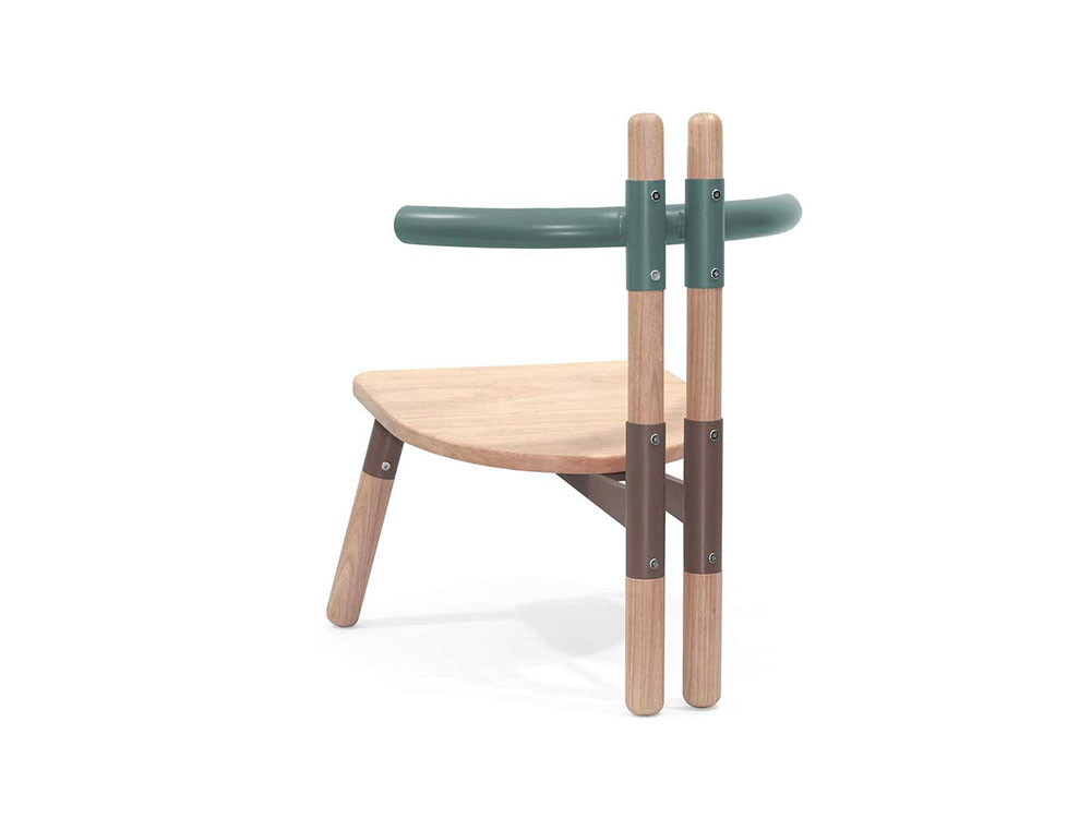 Gusset, el mobiliario de Paulo Kobylka inspirado en estructuras temporales de obra