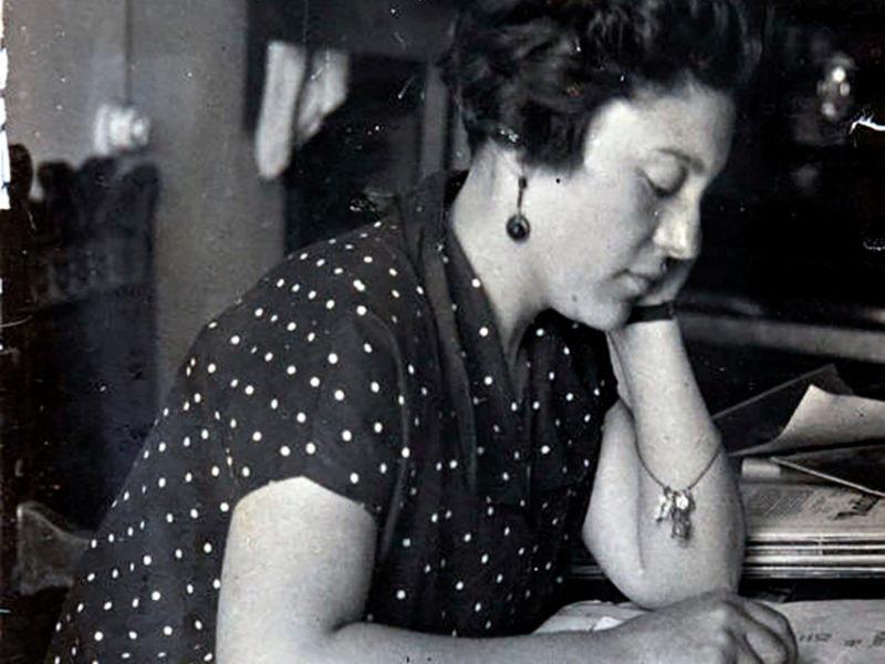 Lolita Díaz Baliño en la la Fundación Luis Seoane de La Coruña