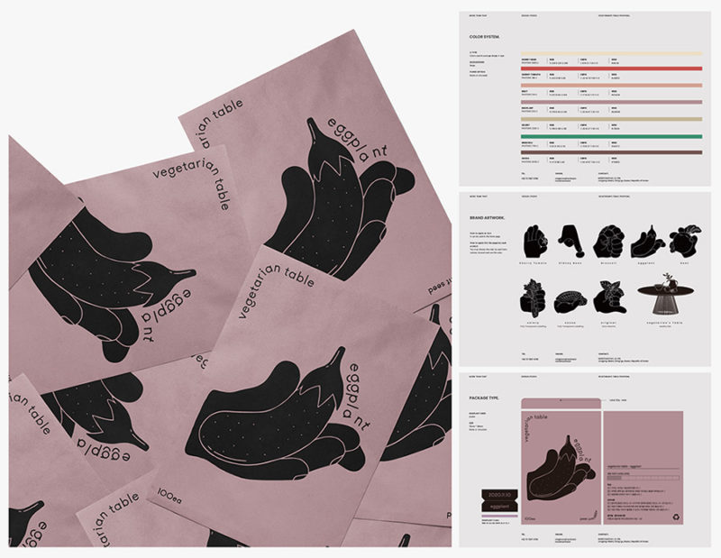 Vegetarian Table, packaging, ilustración y mucha semillas en el proyecto de More Than That