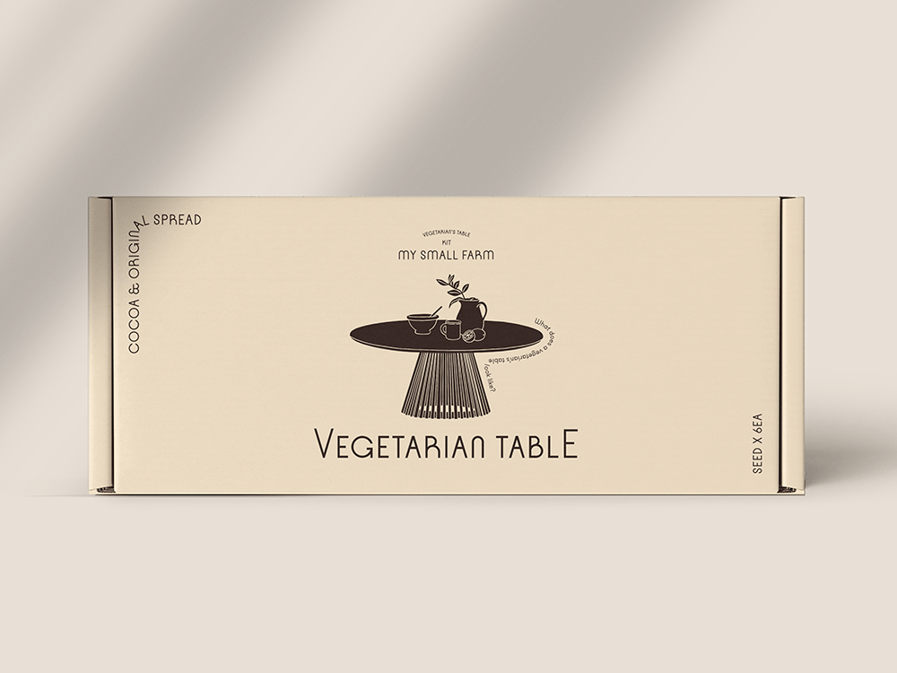 Vegetarian Table, de More Than That. Un packaging de buena semilla