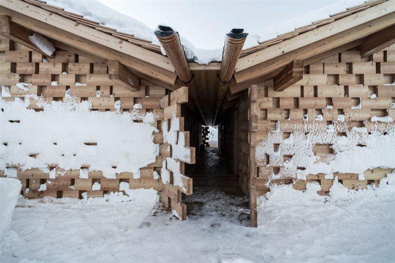 Zallinger, los refugios de Noa en los Dolomitas occidentales. Sofisticada calidez