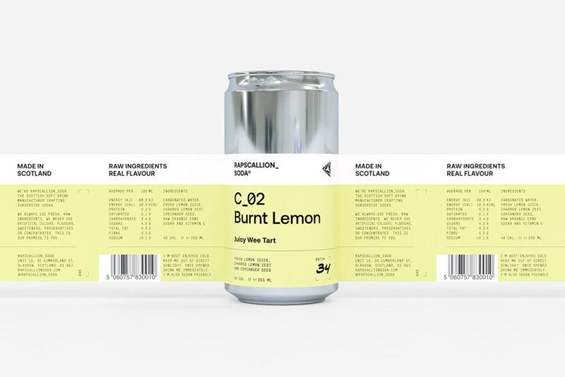Rapscallion Soda, el packaging bribón de Freytag Anderson
