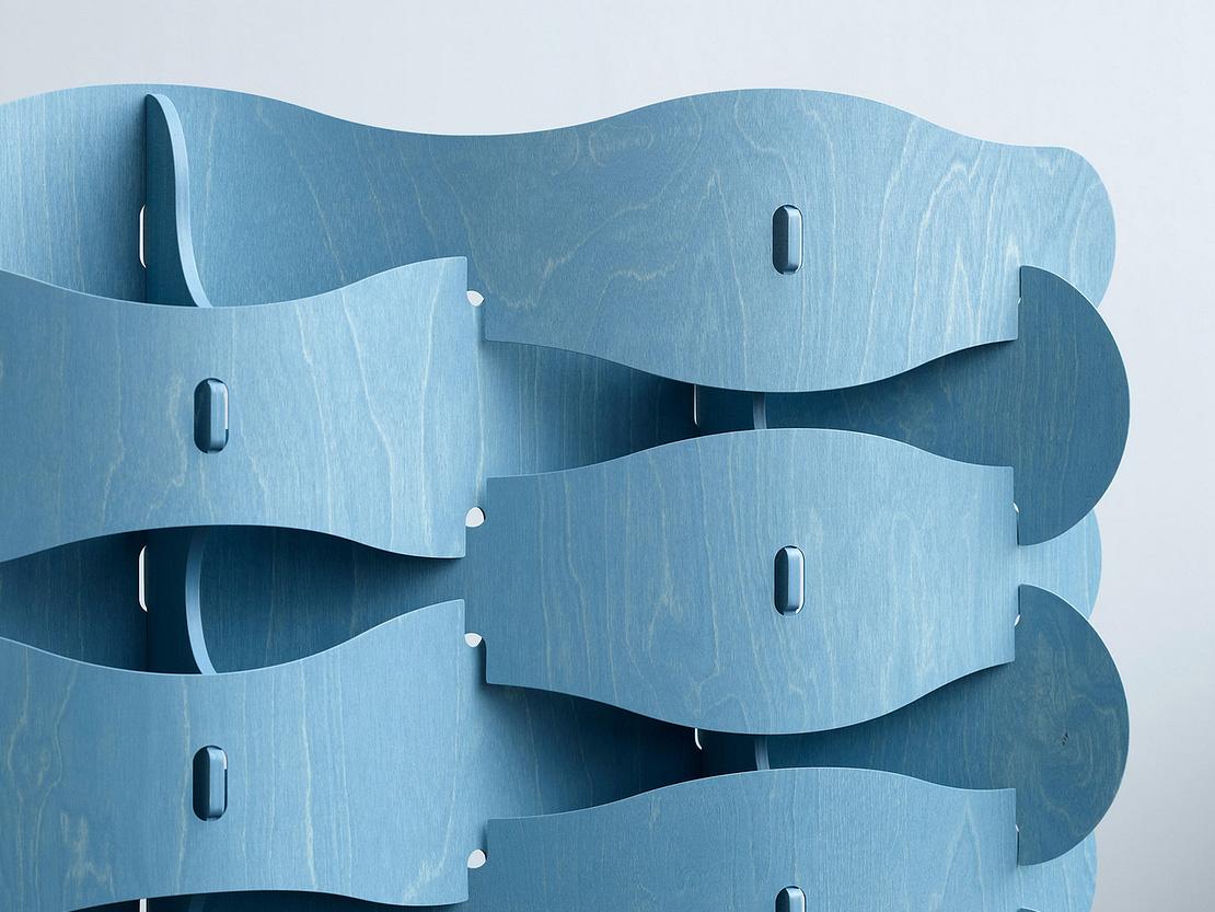 Textile Veneer, el separador de ambientes «tejido» de Else-Rikke Bruun