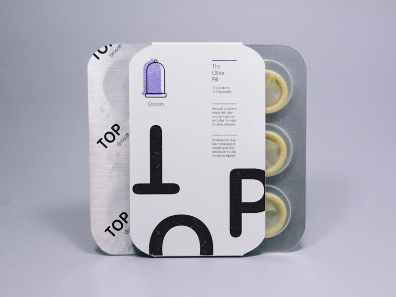 Cinco packaging de condones. Potentes, inspiradores, necesarios