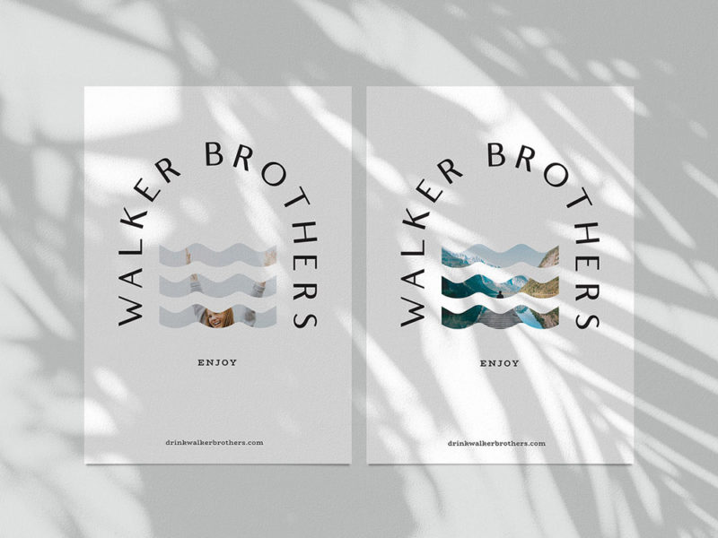 Makebardo desarrolla la identidad de Kombucha Walker Brothers