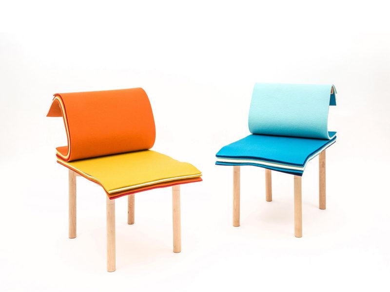 Pages, la silla de Noriko Hashida para pasar página. © Vanguard Industries