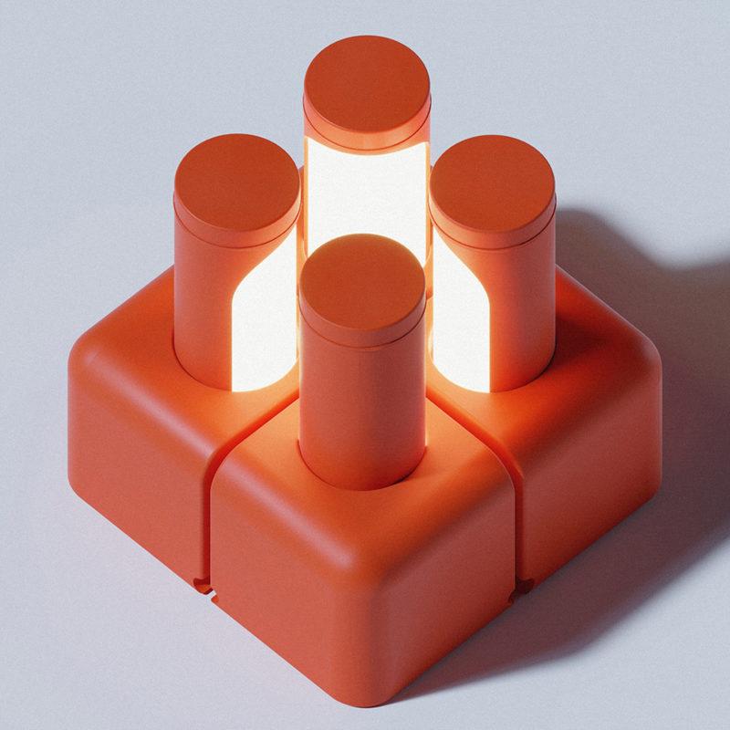 Boolean, la luminaria retráctil de Jesden Tang. Buen diseño malayo