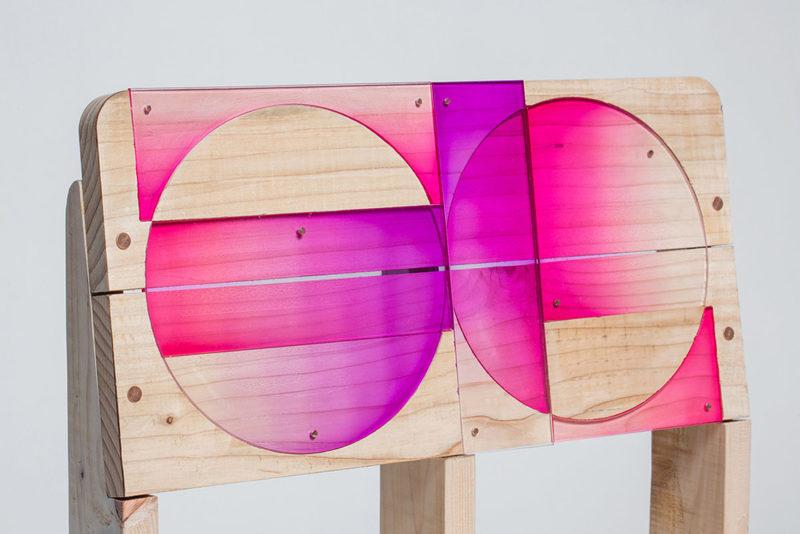 Patterned Pallet, las sillas upcycling de Craft Combine