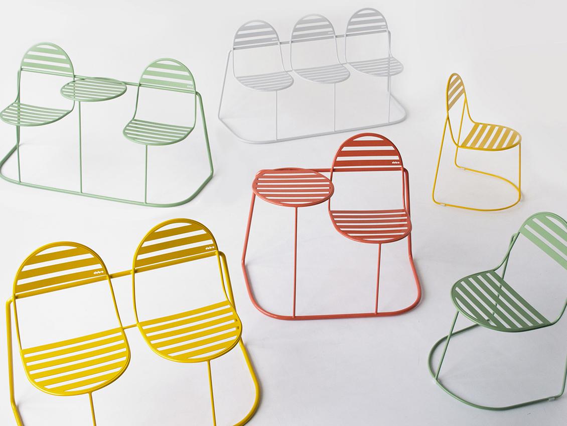 Bubbles: color y transgresión en el mobiliario de exterior de Dobro