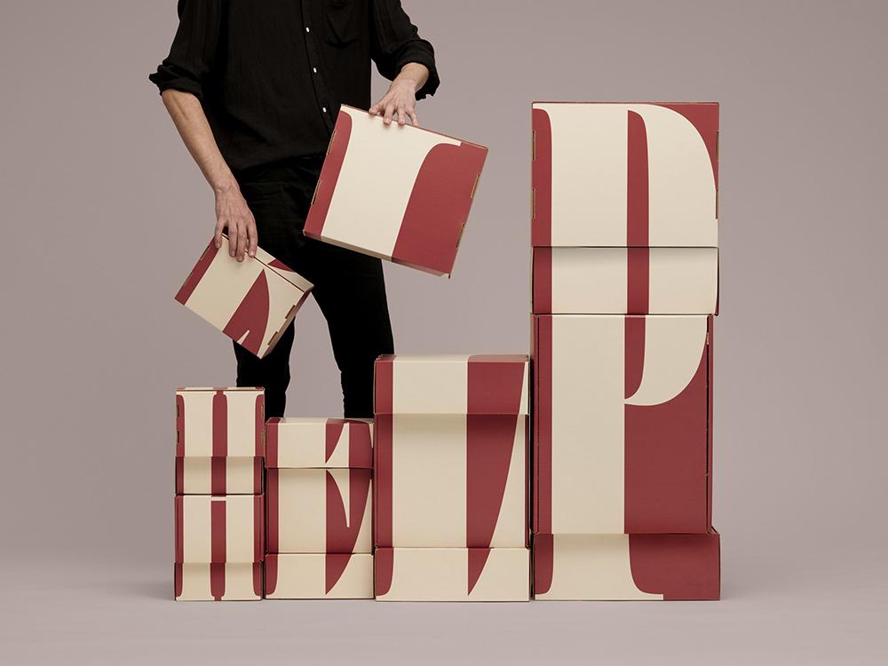 Las cajas de cartón para embalar de Jens Nilsson. Tipográficas, divertidas, efectivas