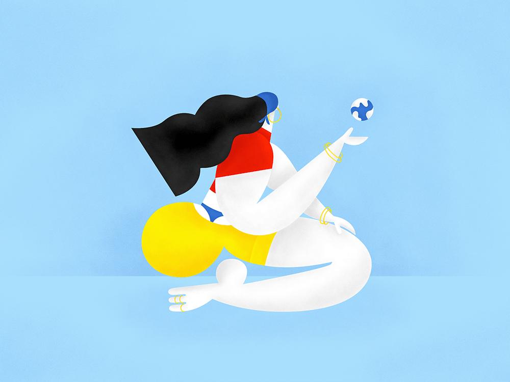 Las coloridas hipérboles de Kat Bielobrova. Ilustración ucraniana