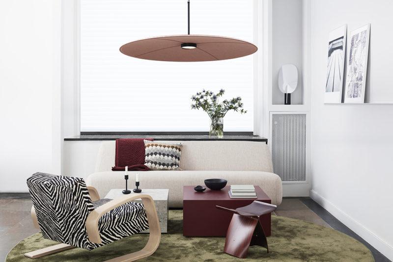 Lily, las luminarias fonoabsorbentes de Runa Klock y Hallgeir Homstvedt